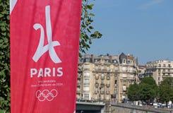 巴黎,法国- 2017年6月26日:巴黎是奥运会的城市候选人 免版税库存图片