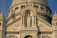 巴黎,法国- 2009年11月27日:巴黎的耶稣圣心的大教堂的细节 库存照片
