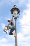 巴黎,法国- 2014年5月29日-足球运动员自由式, Iya特拉奥雷 免版税图库摄影