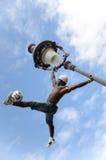 巴黎,法国- 2014年5月29日-足球运动员自由式, Iya特拉奥雷 图库摄影