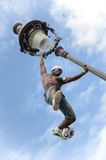巴黎,法国- 2014年5月29日-足球运动员自由式, Iya特拉奥雷 库存照片