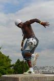 巴黎,法国- 2014年5月29日-足球运动员自由式, Iya特拉奥雷 免版税库存图片