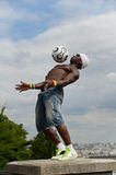 巴黎,法国- 2014年5月29日-足球运动员自由式, Iya特拉奥雷 免版税库存照片