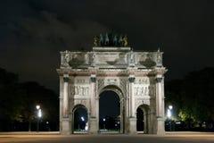 巴黎,法国4月23日 arc carrousel de du triomphe 库存照片