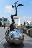 巴黎,法国- 9月04 -雕刻成长点 免版税库存照片