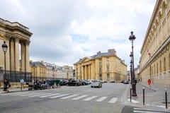 巴黎,法国- 6月26 :游人徒步Graben街图a 免版税图库摄影