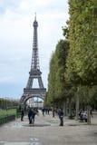 巴黎,法国- 10月20 :从冠军看见的埃佛尔铁塔de 库存照片