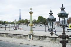 巴黎,法国- 10月20 :从马看见的埃佛尔铁塔 免版税库存图片