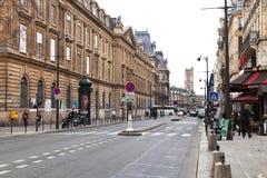 rue de Rivoli在巴黎 免版税图库摄影