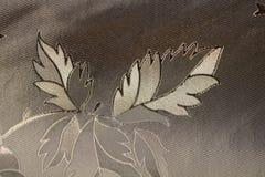 从黑,白色和灰色liaves的无缝的样式 库存图片