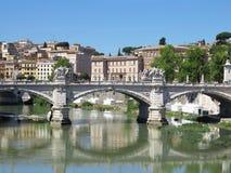 19 06 2017年,罗马,意大利:Sant `对Hadrian Maus的安吉洛桥梁 库存照片
