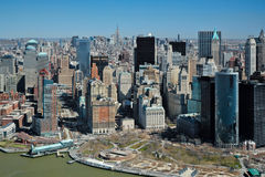 29 03 2007年,美国,纽约:曼哈顿看法从helicopte的 库存图片