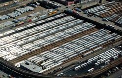 29 03 2007年,美国,纽约:火车站看法在曼哈顿f的 免版税库存图片