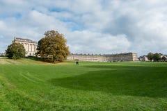 浴,英国欧洲- 10月18日:皇家新月的看法我 图库摄影