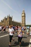 2013年,英国10km伦敦马拉松 图库摄影