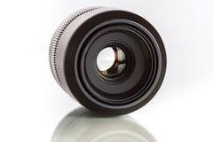 28 05 2017年,萨格勒布,克罗地亚:Fujifilm的GFX 5 G登上透镜 免版税图库摄影