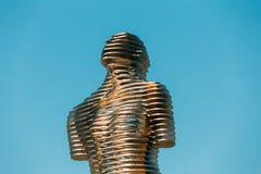 巴统,阿扎尔,乔治亚 乔治亚创造的移动的金属雕塑 库存图片