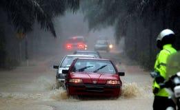 洪水,马来西亚 免版税库存照片