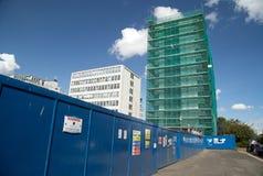08/22/2017,巴克斯特大道,在海,艾塞克斯,英国,建筑工作的Southend 免版税库存图片