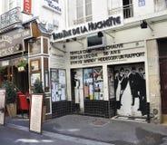 巴黎, 8月15,2013剧院Huchette在巴黎 库存照片