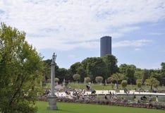 巴黎, 8月15,2013卢森堡在巴黎从事园艺 免版税库存照片