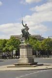 巴黎, 7月15日:华盛顿的雕象骑马者从巴黎的在法国 免版税库存照片