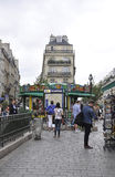 巴黎, 7月19日:地铁车站视图在从法国的巴黎 免版税图库摄影