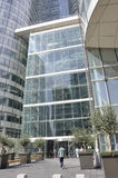 巴黎, 7月16日:拉德芳斯建设在从法国的巴黎关闭  免版税图库摄影