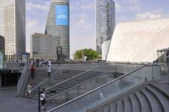 巴黎, 7月16日:拉德芳斯建设在从法国的巴黎 免版税库存照片