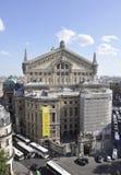 巴黎, 7月15日:歌剧Garnier从巴黎的大厦门面在法国 库存照片