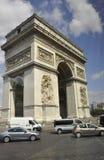 巴黎, 7月15日:胜利视图曲拱从巴黎的在法国 库存图片