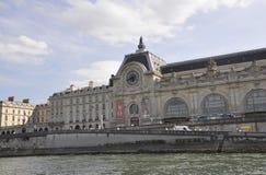 巴黎, 7月18日:从塞纳河银行的历史建筑从巴黎的在法国 免版税库存照片