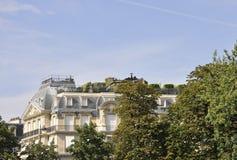 巴黎, 7月18日:从巴黎的历史建筑在法国 免版税库存照片