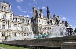 巴黎, 7月17日:从巴黎的城镇厅大厦在法国 免版税图库摄影