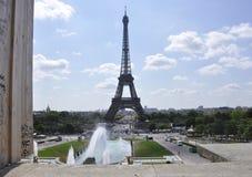 巴黎, 7月15日:从巴黎的艾菲尔铁塔风景在法国 免版税库存照片