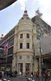 巴黎, 7月15日:从巴黎的Auprintemps Galeries入口在法国 免版税图库摄影