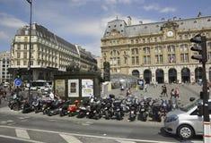 巴黎, 7月15日:从巴黎的Gare圣徒Lazare在法国 免版税库存图片