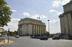 巴黎, 7月15日:从巴黎的Trocadero大厦在法国 免版税库存照片