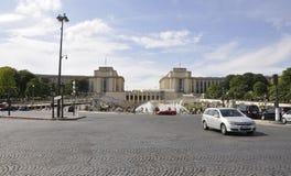 巴黎, 7月18日:从巴黎的Trocadero风景在法国 免版税库存照片