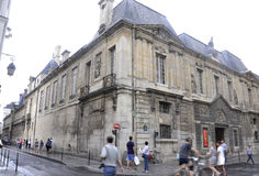 巴黎, 7月19日:从巴黎的Vendome历史建筑在法国 免版税库存图片