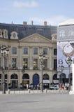 巴黎, 7月19日:从巴黎的Vendome广场历史建筑在法国 库存照片