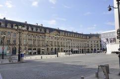 巴黎, 7月19日:从巴黎的Vendome广场历史建筑在法国 免版税库存图片