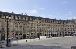 巴黎, 7月19日:从巴黎的Vendome广场历史建筑在法国 免版税图库摄影
