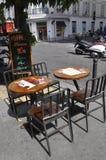 巴黎, 7月17日:从蒙马特的大阳台桌在巴黎 库存图片
