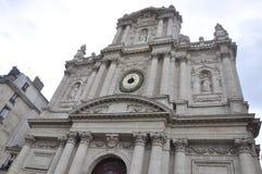 巴黎, 7月19日:从马瑞斯区的圣路易教会在从法国的巴黎 免版税图库摄影