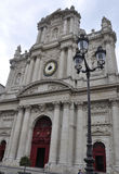 巴黎, 7月19日:从马瑞斯区的圣路易教会在从法国的巴黎 库存照片