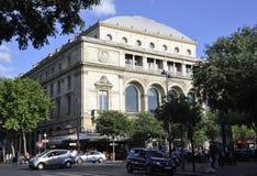 巴黎, 7月17日:Theatre de从巴黎的Ville Building在法国 库存照片