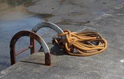绳索, beadnall,诺森伯兰角的抽象研究 免版税库存照片