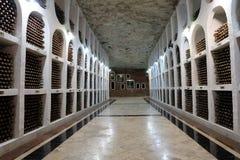 21 08 2016年, CRICOVA,摩尔多瓦地下葡萄酒库 库存照片