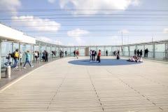 巴黎, Montparnass摩天大楼屋顶的观察台  免版税图库摄影